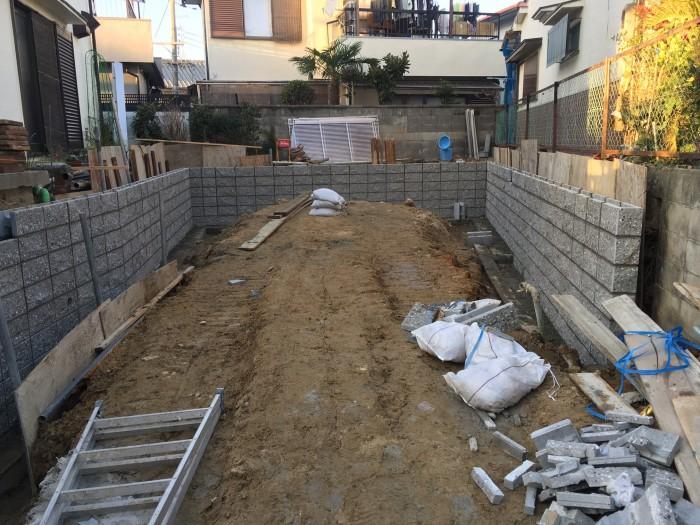 A邸ガレージ増設工事